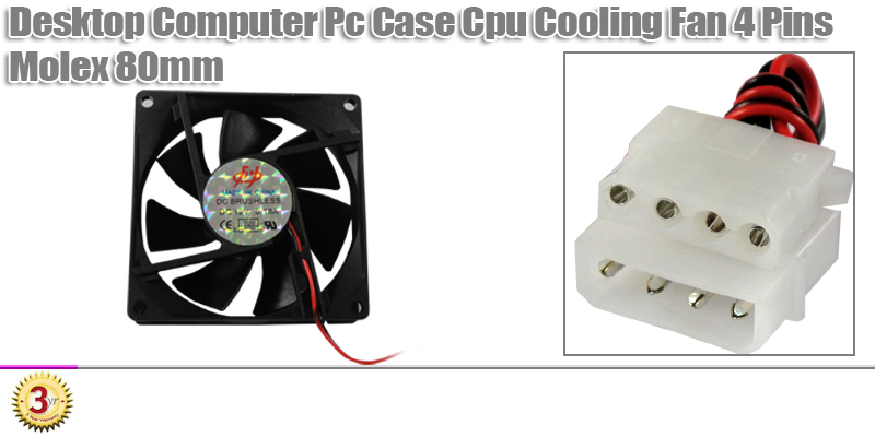 8CM 4 Pin IDE Computer PC Gaming CPU Cooler Cooling Fan | eBay