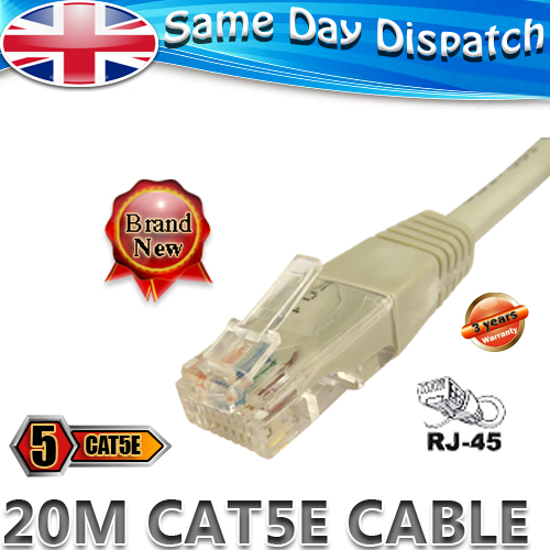 20m network pc internet virgin media modem router cable ebay. Black Bedroom Furniture Sets. Home Design Ideas